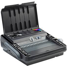 Image of Elektrisches Bindegerät GBC MultiBind 230E, Draht-/Plastikbindung 125/450 Blatt, Stanzung 30 Blatt, A4 & A5, schwarz