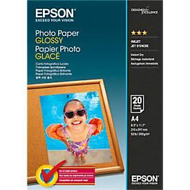 EPSON Fotopapier Photo Paper Glossy, DIN A4, 20 Blatt
