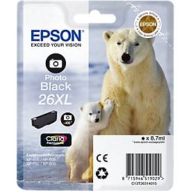 EPSON Tintenpatrone T2631XL photo schwarz