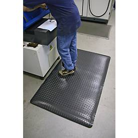 Ergonomiematte Deckplate, schwarz