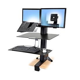 Ergotron WorkFit-S Dual für 2 LCD-Monitore mit Arbeitsfläche