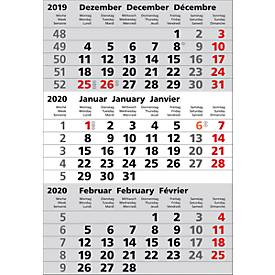 Ersatzkalendarium, für 3-Monats-Kalender Edelstahl, deutsches Kalendarium, f. 1 Jahre