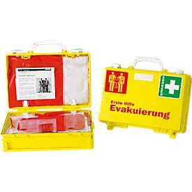 Erste Hilfe Koffer Evakuierung, mit 2 Rettungssitze, auffällige Farbkombination