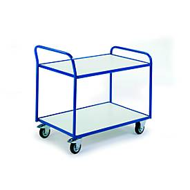 ESD-tafelwagen met 2 legplanken, 790 x 490 mm, draagvermogen 250 kg