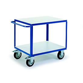 ESD-Tischwagen mit 2 Ladeflächen, 1000 x 700 mm, Tragkraft 500 kg