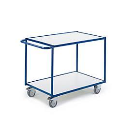 ESD-Tischwagen mit waagerechten Schiebebügeln, 2 Etagen