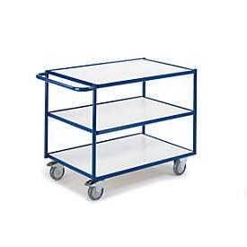 ESD-Tischwagen mit waagerechten Schiebebügeln, 3 Etagen