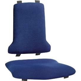 Image of ESD-Wechselpolster Sintec, Stoffpolster Duotec, Lendenbausch, blau