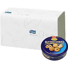 Essuie-mains pliés + Buttercookies GRATUIT