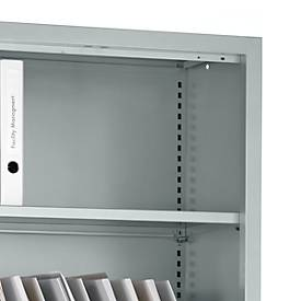 Etagères MS iCONOMY, supports incl., l. 800 - 1200 mm, 2 pièces, alu argenté
