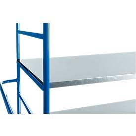 Etagenboden, aus verzinktem Stahlblech, L 1045 x B 640 mm oder L 1240 x B 740 mm