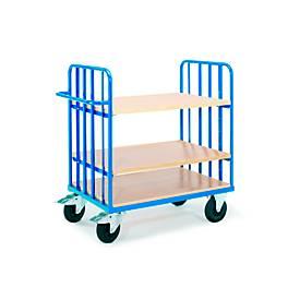 Etagenwagen  mit Schiebegriff, 1000 x 700 mm, mit variabler Einteilung für Etagenböden