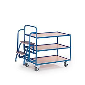 Etagewagen met trapje, 3 etages