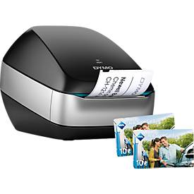 Etikettendrucker DYMO LabelWriter™ Wireless, WLAN, Thermodirekt-Druck + 20,-€ Aral Tankgutschein, schwarz