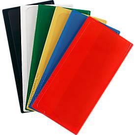 Etikettentasche Label PLUS, selbstklebend, 50x110, rot
