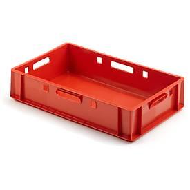 Euro Box Fleischkasten, lebensmittelecht, Inhalt 25,3 L, geschlossene Version, rot
