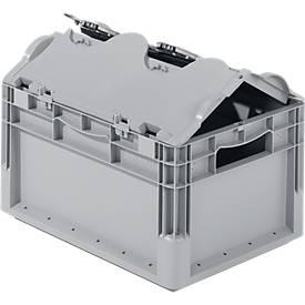 Euro Box Leichtbehälter ELB 4220, aus PP, Inhalt 20,4 L, mit Deckel, grau