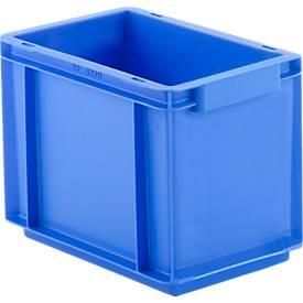 Euro Box Serie EF 3220, aus PP, Inhalt 9 L, geschlossene Wände, Unterfassgriff, 9 l, blau