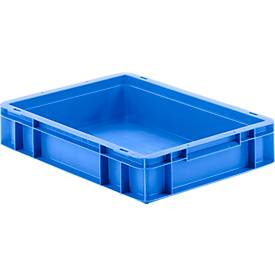 Euro box serie EF 4080, van PP, inhoud 7,4 l, gesloten wanden, greep, blauw