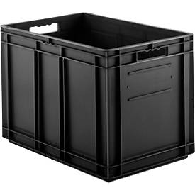 Euro Box Serie EF 6420, leitfähiges PP, Inhalt 83,8 L, Durchfassgriff