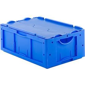 Euro Box Serie LTB 6220, aus PP, Inhalt 41 L, mit Deckel, blau