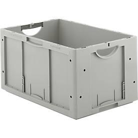 Euro Box Serie LTB 6320, aus PP, Inhalt 61,7 L, ohne Deckel, grau