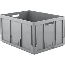 Euro Box Serie LTB 8420-GL, aus PP, Inhalt 175 L, Durchfassgriff, grau