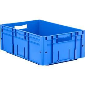 Euro Box Serie LTF 6220, aus PP, Inhalt 42 L, Durchfassgriff, blau