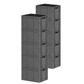 Euro Box Serie LTF 6320, aus PP, Inhalt 62,7 L, 10er Set