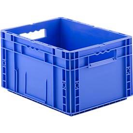 Euro Box Serie MF 4220, aus PP, Inhalt 19,7 L, Durchfassgriff, blau