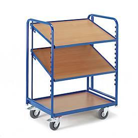 Euro-boxwagen met houten planken, 820 x 620 mm, 820 x 620 mm