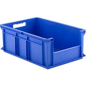 EURO-doos EF 6220, zonder deksel, zonder deksel, zonder stofklep, 43,5 l, blauw