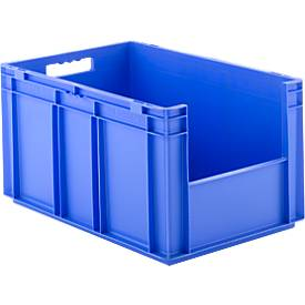 EURO-doos EF 6320, zonder deksel, zonder deksel, zonder stofklep, 63,7 l, blauw