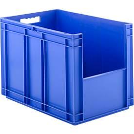 EURO-doos EF 6420, zonder deksel, zonder deksel, zonder stofklep, 83,8 l, blauw