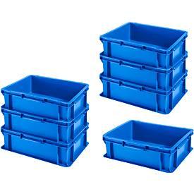 Euro-Fix-bakken EF 4120, zonder decksel, 10,8 L, blauw, 7 stuks