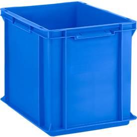 Eurobox serie EF 4320, uit PP, inhoud 29,5 L, gesloten wanden, bodemgreep, blauw