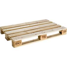 Europallets EPAL 1, L 1200 x B 800 x H 144 mm, max. belasting 1500 kg, aan 4 zijden intrekbaar, UIC-standaard 435.2, 10 st.