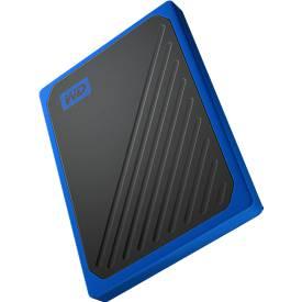 Externe Festplatte WD My Passport™ Go, 500 GB, PC/Mac, sturzsicher, integr. USB-Kabel, schwarz/blau