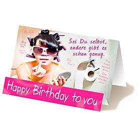 Extraknick-Geburtstagskarte Happy Birthday, Mot...