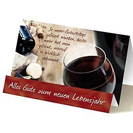Extraknick-Geburtstagskarte Wein, mit 3D-Effekt, mit Umschlag