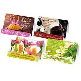 Extraknick-Geburtstagskarten, 4 verschiedene/ne...