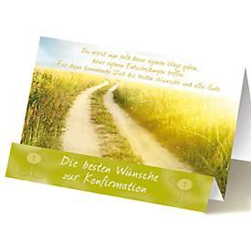 Extraknick-Grußkarte Konfirmation, Motiv Weg, m...