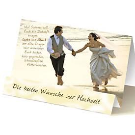 Extraknick-Hochzeitskarte Paar am Strand, mit 3D-Effekt, mit Umschlag
