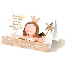 Extraknick-Weihnachtskarte Engel als Christkind...