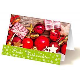 Extraknick-Weihnachtskarte Rote Kugeln, 3D-Effe...