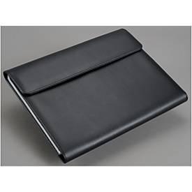 Fächermappe, Kunstleder, DIN A4, schwarz