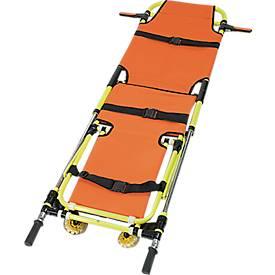 Fahr- und Tragestuhl mit Zusatzfunktion Krankentrage, einfach zusammenklappbar