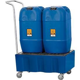 Fahrbare Auffangwanne für 60-Liter-Behälter oder Kleingebinde