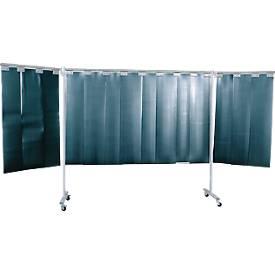 Fahrbare Schweißer-Schutzwand mit Lamellen, 3-tlg.
