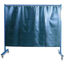 Fahrbare Schweißer-Schutzwand mit Folienvorhang, 1-tlg.
